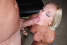 Busty milf milking big cock till it exploded with cum