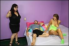 BBW babe kelly Shibari gets a massive facial cum blasting