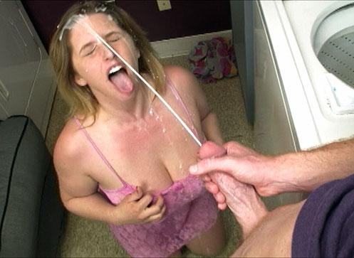 Teen Raina makes it rain by  gets a huge cum blast